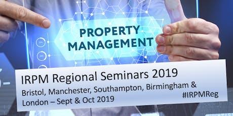 IRPM Regional Seminar Bristol 2019 tickets