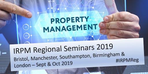 IRPM Regional Seminar Bristol 2019