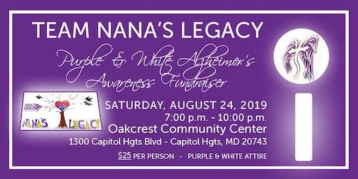 Team Nana's Legacy - Purple & White Alzheimer's Awareness Fundraiser