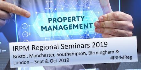 IRPM Regional Seminar Manchester 2019 tickets