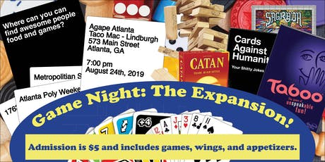 Agape Atlanta and Friends Present - Game Night: The Expansion  tickets