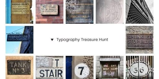 Typography Treasure Hunt - Sunday event