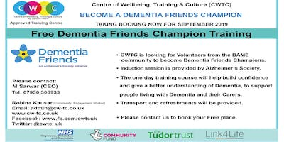 Free Dementia Friends Champion Training