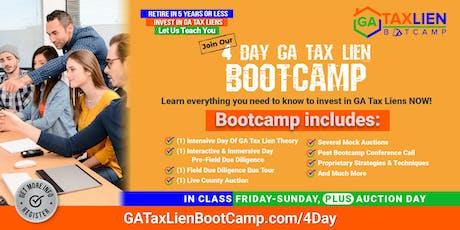 4 Day GA Tax Lien Bootcamp tickets