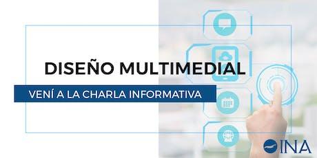 Charla Informativa de Diseño Multimedial entradas