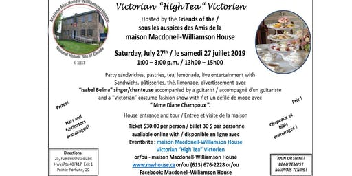 "Macdonell-Williamson House Victorian ""High Tea"""