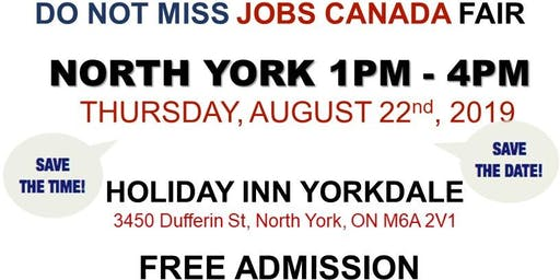 FREE: North York Job Fair – August 22nd, 2019