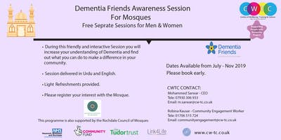 Dementia Friends Awareness Session for Mosques