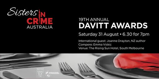 19th Davitt Awards for best crime books by Australian women