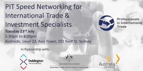 PIT Speed Networking for International Trade & Investment Specialists  tickets