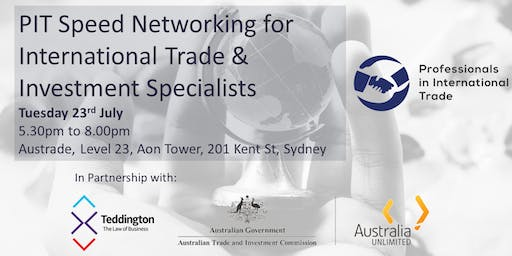 PIT Speed Networking for International Trade & Investment Specialists