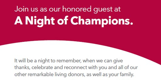 Night of Champions, Living Donor Event 2019