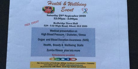 Health and Wellbeing Event tickets