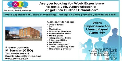 Work Experience For Unemployed and Volunteer