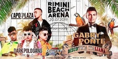 Capo Plaza Dark Polo Gang Gabry Ponte Rimini Beach Arena + Offerta Hotel