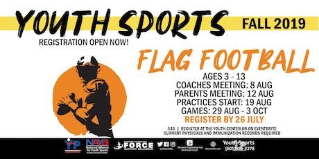 Fall Flag Football - EAFB Youth Sports tickets