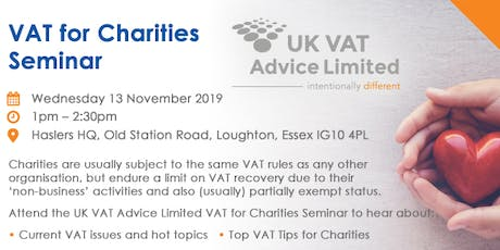 VAT for Charities - Free Seminar tickets