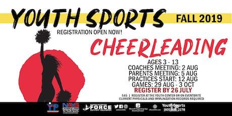 Fall Cheerleading - EAFB Youth Sports tickets