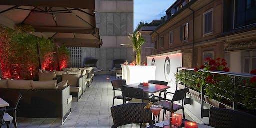 Hotel Sina The Gray Milano - Mercoledi 24 Luglio 2019 - Terrazza Aria Cocktail Party con Dj set - Lista Miami - Accrediti e Tavoli al 338-7338905