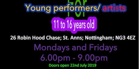Eden Hearts UK; Performing arts after school/holiday club 11 - 16 year olds tickets