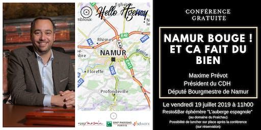 Namur BOUGE et ça fait du bien (avec Maxime Prévot)