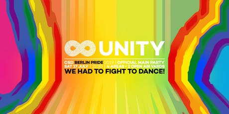 UNITY Pride 2019 • Official CSD Main Party Berlin Pride • Saturday 2019 tickets