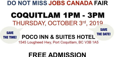 Free: Coquitlam Job Fair - October 3rd, 2019 tickets