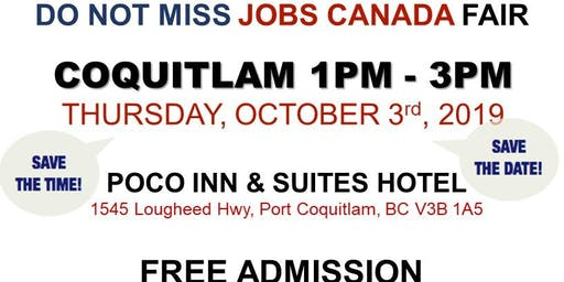 Free: Coquitlam Job Fair - October 3rd, 2019