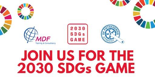 2030 SDGs spel Utrecht & Netwerk Diner