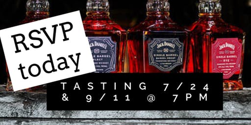 Jack Daniels Single Barrel Collection Tasting at Quintana's Speakeasy