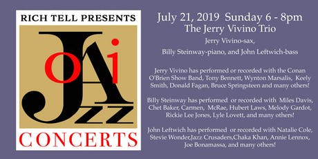 Ojai Jazz Concerts presents The Jerry Vivino Trio from The Conan Show tickets