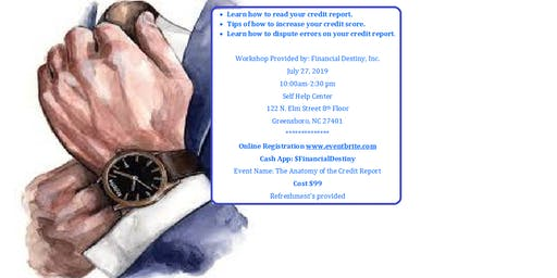 Anatomy of the Credit Report Workshop