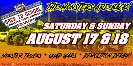 2nd Annual Back To School Monster Truck Summer Smash - August 17, 2019 tickets