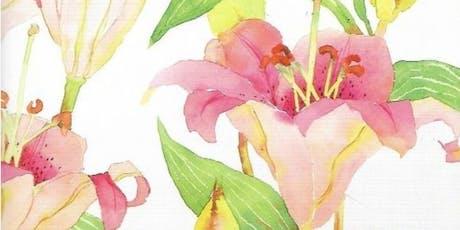 Watercolor Florals - Intermediate tickets
