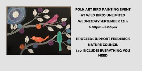 Colorful FolkArt Birds tickets