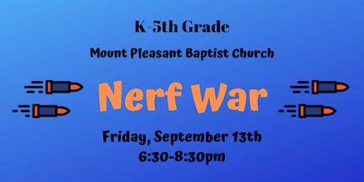 Back-to-School Nerf War (K-5th Grade)