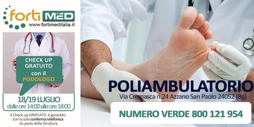 CHECK UP GRATUITO CON IL PODOLOGO