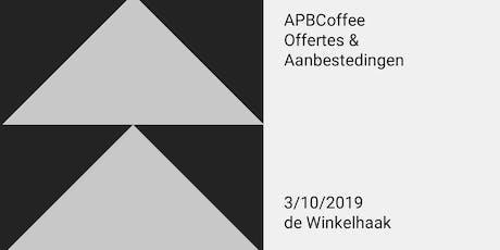 APBCoffee - Offertes & Aanbestedingen tickets