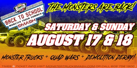 2nd Annual Back To School Monster Truck Summer Smash - August 18, 2019 tickets