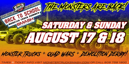 2nd Annual Back To School Monster Truck Summer Smash - August 18, 2019