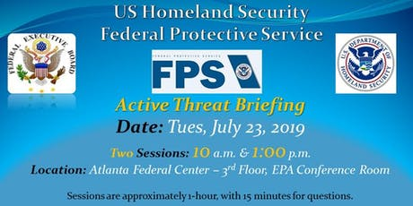 Federal Protective Service (FPS) Active Threat Briefing tickets