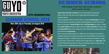 Grand Union Youth Orchestra Summer School tickets