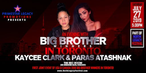 An Evening with Big Brother Winners in Toronto