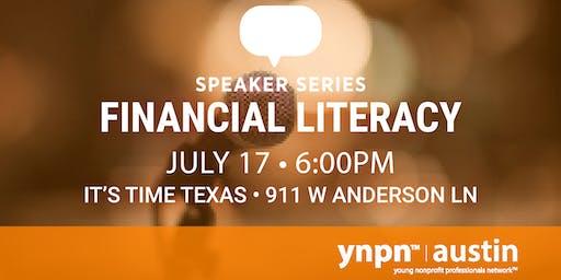 Speaker Series: Financial Literacy