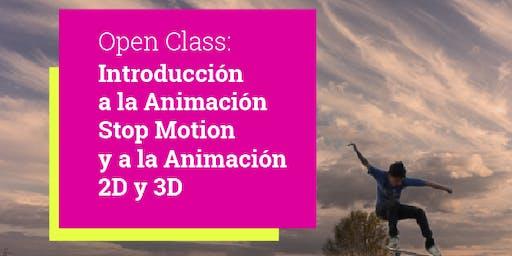 Open Class: Introducción a la Animación Stop Motion y a la Animación 2D y 3D