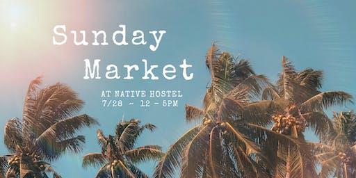 Sunday Market at Native Hostel