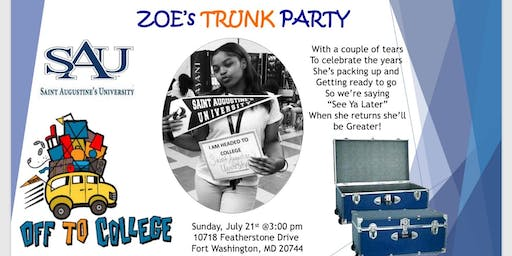 Zoe's Trunk Party