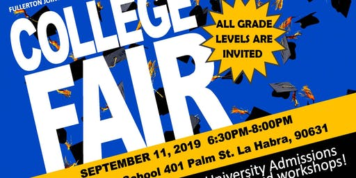 FJUHSD 2019 COLLEGE NIGHT