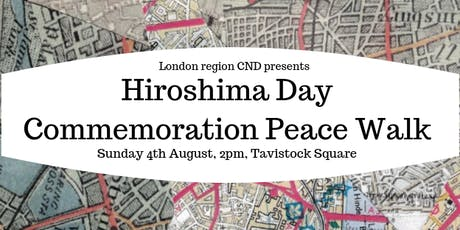 Hiroshima Day Commemoration Peace Walk tickets