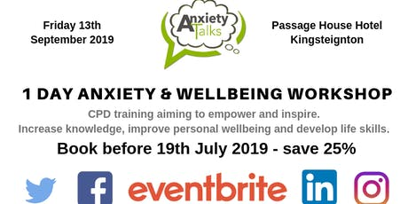 1 DAY CORPORATE ANXIETY & WELLBEING DAY tickets